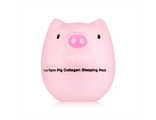 Маска для лица ночная коллагеновая  Tony Moly Pure Farm Pig Collagen Sleeping Pack